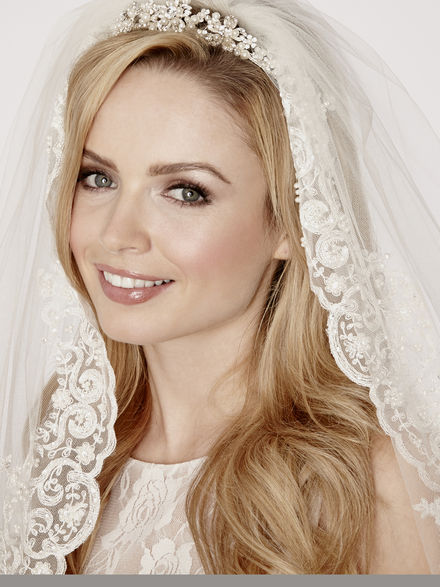 Wide Lace Edge Bridal Veil