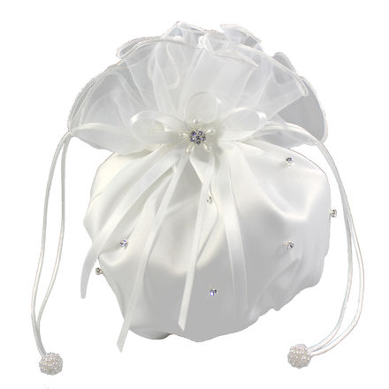 Satin and Organza Dolly Bag with Scattered Diamante