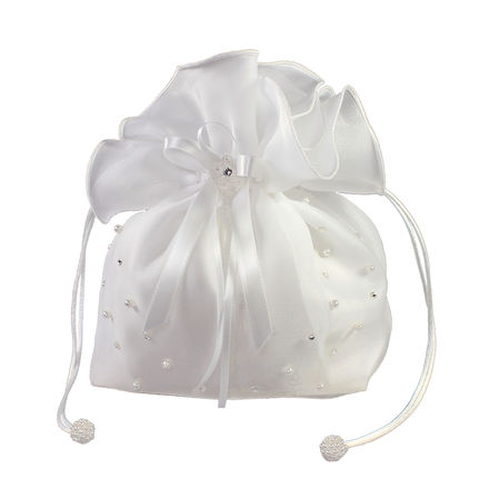 Organza Dolly Bag with Pearl and Diamante