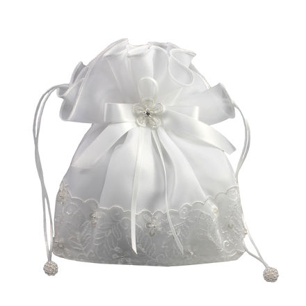 Organza & Beaded Lace Dolly Bag