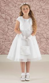 Short Communion Dress with Jacket