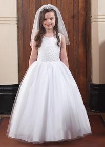 6012a1bd02b Full Skirt Communion Gown