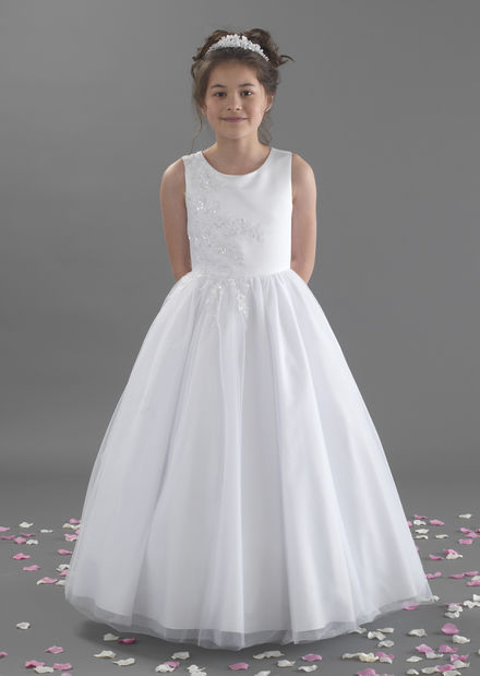 Beaded Satin Bodice and Tulle Skirt