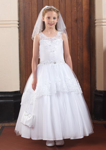 Satin and Tulle Communion Dress