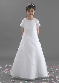 Apron Style Communion Dress