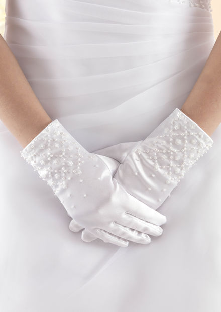 Criss Cross Beaded Childs Glove