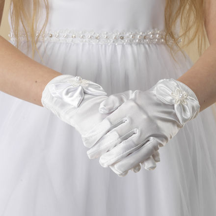 Satin Glove with Bow