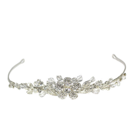 Diamante Centre Flower Tiara
