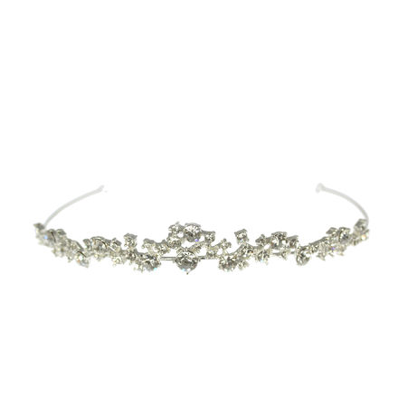 Scattered Diamante Tiara