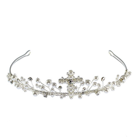 Pearl Cross Design Tiara