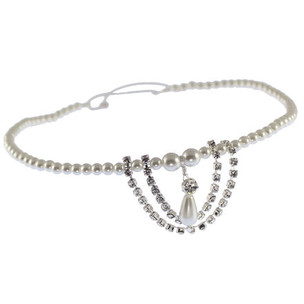 Pearl & Diamante Design Browband on Elastic