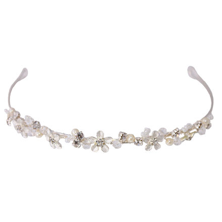 Flower Beaded Communion Headband