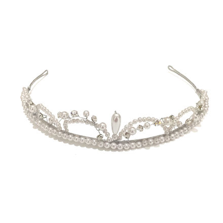 Pearl & Diamante Loop Tiara