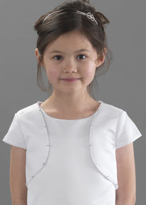 Satin Beaded Edge Communion Jacket