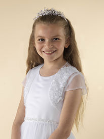 Tulle Communion Jacket with Short Sleeves