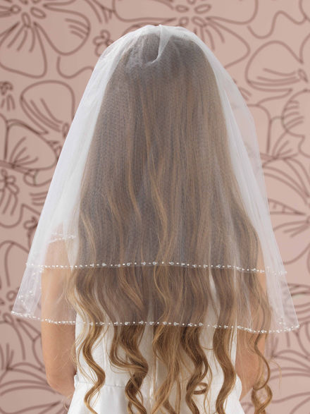 Combed Veil with Crystal Sequin Edge