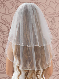 Pearl & Diamante Edge Communion Veil