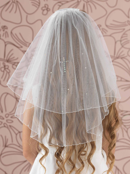 Diamante Cross Communion Veil