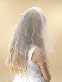 Two Tier Scalloped Edge Communion Veil