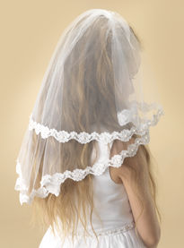 Laced Edge Communion Veil