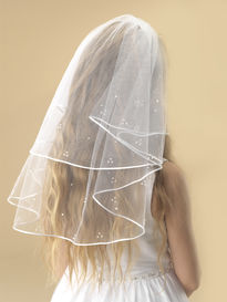 Scattered Pearl Communion Veil