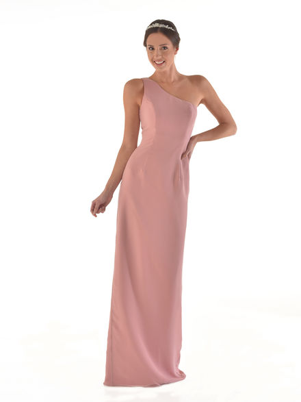 One Shoulder Chiffon Straight Dress